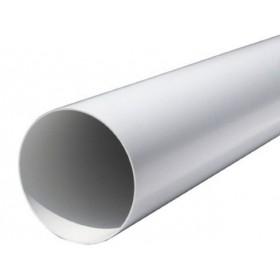 TUBO IN PVC D.125 PROFILO TONDO DA 1,5 MT CTR125B PER VENTILAZIONE