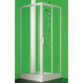 BOX ANGOLO SKIPPER VELA PROFILO BIANCO ANGOLO A 4 ANTE CM 65/70-85/90 CRISTALLO STAMPATO FORTE BS109200501